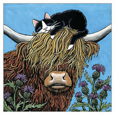 Safe Up Top Funny Cat Greeting Card Lisa Marie Robinson Humorous Cards Cats Cow