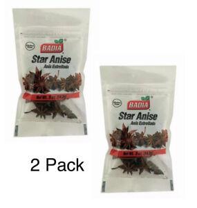 Bags Badia Star Anise/Bolsa de Anis Estrellado/Gluten Free /5 oz(14.2 g) 2 PACK