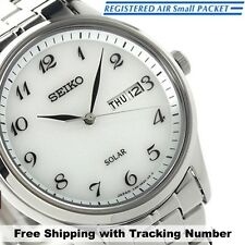 SEIKO SPIRIT SBPX067 Solar Analog Silver White New Men's Watch Made in Japan F/S