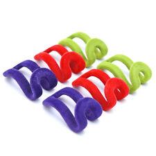 10 PCS Random Color Home Creative Mini Flocking Clothes Hanger Easy Hook Closet