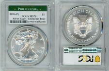 2020 (P) Silver American Eagle $1 Emergency Issue Pcgs Ms70 Philadelphia