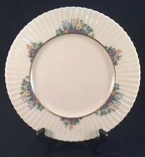 """Lenox Rutledge 8-1/2"""" Salad Plate Enameled Multi-Colored Flowers With Gold Ring"""