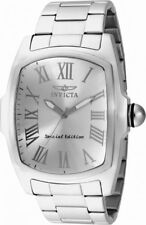Invicta Lupah 15187 Men's Silver Tone Analog Tonneau Roman Numerals Watch