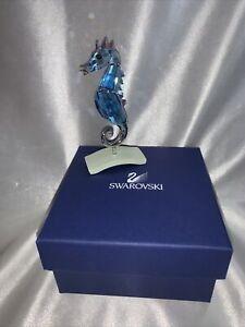 Swarovski Chipili Aquamarine Seahorse Figurine 656653