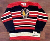 Chicago Black Hawks Blackhawks 1940 Wool Hockey Sweater Jersey Large/XL Vintage