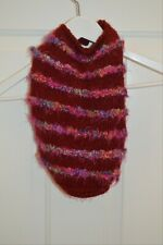 New listing dog sweater Burgundy knitted with flower closure Pretty! orange pink purple