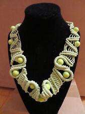 Halskette Macrame, grün, Handarbeit, Länge verstellbar