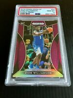 2019 Panini Purple Prizm #64 Zion Williamson Duke RC Rookie PSA 10 GEM Pelicans