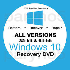 Win 10 recovery disk-all versions