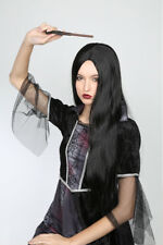 Wig Long Black Middle Part Synthetic Hair Multi Use Witch/Sorceress Costume Wig