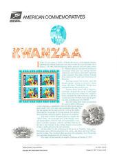 #528 32c Kwanzaa Celebration #3175 USPS Commemorative Stamp Panel