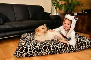 DOG PET BED PILLOW EXTRA LARGE with FREE Spare COVER Waterproof SOFT CUSHION