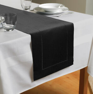 Country Club Table Runner, Black Party Table Decoration Cloth Xmas Home Style