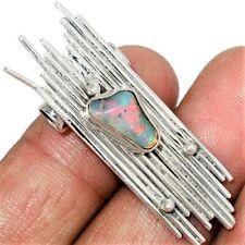Interessanter Silberanhänger 925er - Natur Opal - Brocken - tolles Design -4,5cm