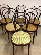 6 Original Thonet Stühle Nr.8 um1860 Frühes Modell Sehr SELTEN 1 Etikette