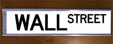 WALL STREET SIGN ROAD BAR SIGN - STOCKMARKET BUSINESS NEW YORK CITY