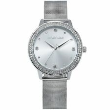 Taylor Cole TC070 Ladies Quartz Silver Milanese Stainless Steel Band 39mm XL CAS