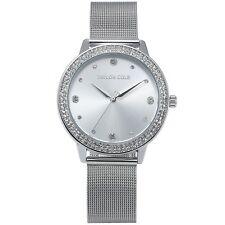 Taylor Cole Luxury Bling Crystal Stainless Steel Lady Women Quartz Wrist Watch