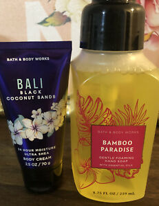 Bath & Body Works BAMBOO PARADISE Gentle Foaming Hand Soap MOM Gift Set