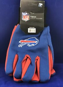 NFL Buffalo Bills Colored Palm Utility Gloves Blue w/ Red Palm by FOCO