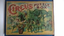 Antique Vintage Milton Bradley CIRCUS puzzle box Clown board game