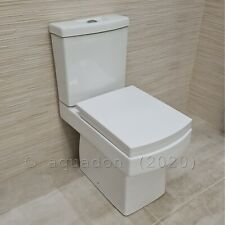 Serif Close Coupled Modern Toilet WC Square Ceramic Pan Short Projection