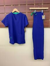 NEW Carhartt Purple Solid Scrubs Set With Small Top & Small Pants NWT