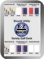 Bicycle 'Variety Gaff Deck'  Various Magic Trick Gaff Cards