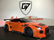 CUSTOM RC TAMIYA 1/10 NISSAN GTR TOURING DRIIFT BODY SHELL,  HPI SPRINT 2  MST