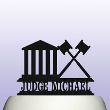 Personalised Acrylic Law Court Judge Birthday Cake Topper Decoration