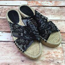 629791563adc Zara Women Womens Size UK 37 US 6.5 Espadrilles Platform Black Tan Lace  Shoes