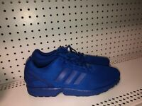 Adidas ZX Flux Monochrome Pack Mens Athletic Running Shoes Size 11.5 Triple Blue