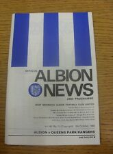05/10/1968 West Bromwich Albion v Queens Park Rangers  (Crease).  Thanks for vie