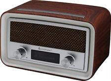 Soundmaster UR190DBR DAB+/ FM Clock Radio with USB Charging Socket