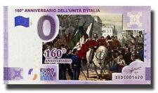 BILLET 0  EURO 160th ANNIVERSARIO'UNITCOULEUR D'ITALIA 2021  NUMERO DIVERS