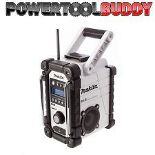 Makita DMR104W White/Black Job Site Radio With DAB Mains Or Battery*PTB*