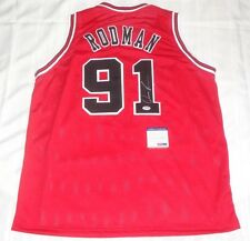 Dennis Rodman signed Chicago Bulls 1997 NBA Finals jersey autographed PSA DNA