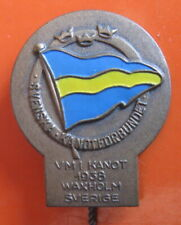 SWEDEN - 1st WORLD CANOE SPRINT CHAMPIONSHIP VAXHOLM 1938 PIN