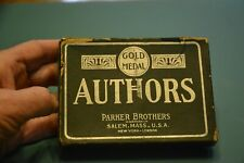 Vintage Game Of Authors Parker Brothers with Box estimated 1920's