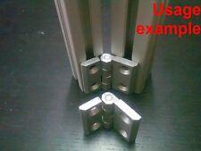 Aluminum T-slot profile hinge 30x40, 4-set