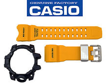 Casio G-Shock Mudmaster GWG-1000-1A9 Rubber Yellow Watch Band Black Bezel Set