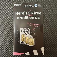Giffgaff Giff Gaff SIM Card for GPRS Tracker Smart watch Alarm GSM 2G Pet Fall