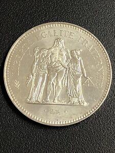 Piece De 50 Francs Hercule En Argent