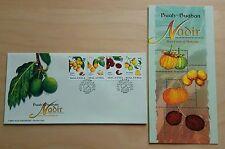 1998 Malaysia Rare Fruits 4v Stamps FDC (Melaka Cachet)