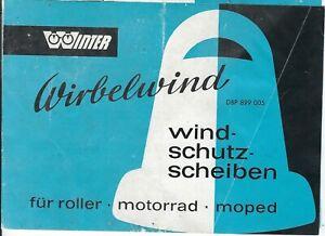 Wirbelwind Prospekt Oldtimer Motorrad Moped Roller NSU DKW Vespa Heinkel Puch