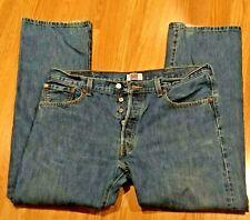 Levis 501 Button Fly Straight Leg Men's 5 Pocket Denim Jeans 38x30
