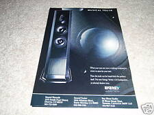 Energy Veritas v2.8 Speaker AD from 1994, High-End!
