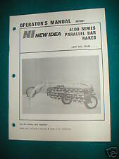 NEW IDEA  4100  Five BAR Side Rake Operator's Manual