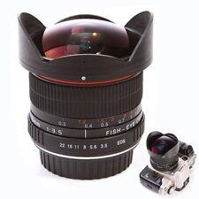 8mm f/3.5 Lente Ojo De Pez Super Gran Angular fr Canon 750D 760D 7D 600D 7DII 5D
