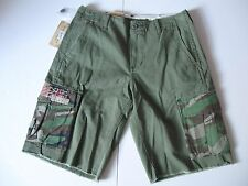 DENIM & SUPPLY RALPH LAUREN Men's Army Green Flag-Pocket Cargo Shorts Sz 30